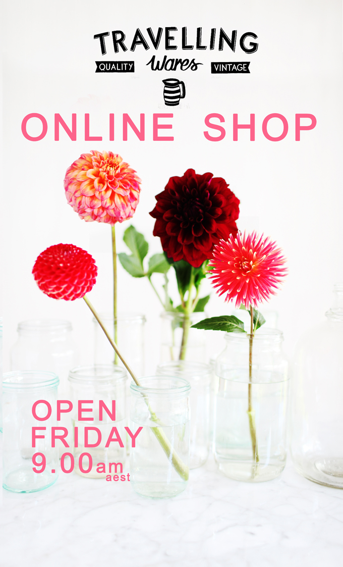 Online Shop Opening Friday